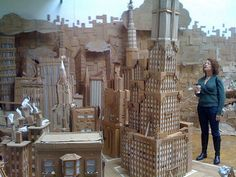 """Institute of Technology created an entire cardboard city called """"Cardburg"""", exhibited at the Cell Space gallery in San Francisco in 2008."""