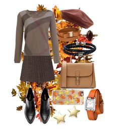"""""""It's Autumn Now And Things Are Changing"""" by bringcolortomyskies ❤ liked on Polyvore featuring Improvements, Sonia Rykiel, Burberry, Salvatore Ferragamo, Accessorize, Phillip Gavriel, Chan Luu, Bloomingdale's, Hermès and Casetify"""
