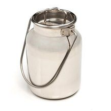 Small Stainless Steel Milk Cans - 2L/Half-gal