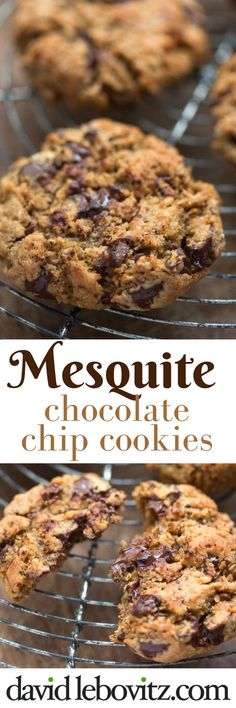 Delicious chocolate chip cookies with the hearty taste of mesquite.  via @davidlebovitz