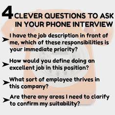 Preparing for phone interview questions. How to ace a phone job interview. Job Interview Preparation, Interview Questions And Answers, Job Interview Tips, Job Resume, Resume Tips, Resume Skills, Resume Ideas, Resume Examples, Job Career