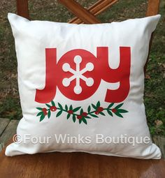 Holiday Decorative Pillow with inserts by FourWinks on Etsy