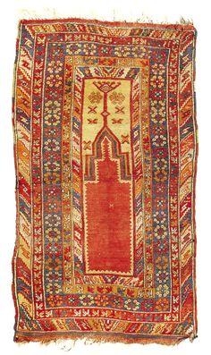Turkish Konya Rug 19th Century
