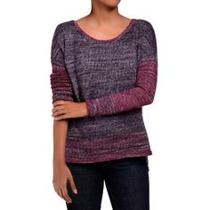"""A quick knit, Breathe Easy is a boxy drop shoulder pullover worked from the bottom up. The body is provisionally cast on at the high hip and worked in the round till the armholes. The provisional sts are later picked up and the front and back are worked flat separately creating the side slit, and the back is worked longer than the front. While the body has about 10"""" of ease worked in, the sleeves are close fitting, striped and full length. Sleeves are worked in the round, down to the…"""