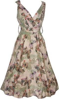 Ladies Kushi Party 50's Retro Swing Prom Butterfly Summer Dress Size 20