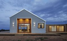 Australian design firm Glow recently completed a stunning farmhouse that embodies both the traditional rural aesthetic and contemporary, energy-efficient trends in home design.
