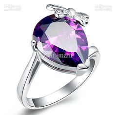 Find More Rings Information about Wholesale Charm Vintage Butterfly Sterling Silver Purple/Red Crystal Simulated Diamond Jewelry 2014 New… Crystal Engagement Rings, Engagement Jewelry, Crystal Ring, Jewelry 2014, Cheap Jewelry, Copper Jewelry, Jewelry Rings, Diamond Jewelry, Jewelery