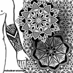 Geometric Sleeve Tattoo, Geometric Tattoo Design, Geometric Mandala, Mandala Tattoo Design, Tattoo Designs, Hand Tattoos, Flame Tattoos, Body Art Tattoos, Tribal Tattoos