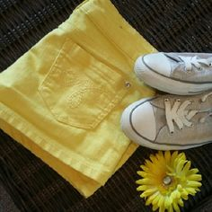 Bright yellow short shorts Perfect for summer, size 11 Shorts