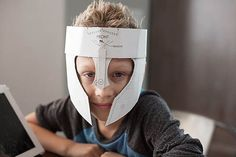 Activities, Ideas, Travel, Movies & Technology for Kids - All for the Boys - Crafteeo - DIY Cardboard Warrior Helmets Warrior Helmet, Viking Helmet, Medieval Party, Medieval Costume, Cardboard Costume, Cardboard Crafts, Diy Knight Costume, Diy For Kids