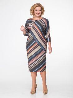 Платье в перекрестную полоску с декоративной шнуровкой – купить в интернет-магазине «L'MARKA»: доставка по России