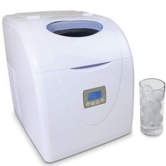 The High Capacity Countertop Ice Maker - Hammacher Schlemmer.  I think I've just found my next Christmas Present!