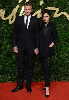 David et Victoria Beckham aux British Fashion Awards 2015