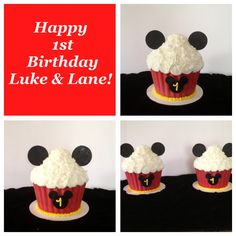 Mickey Mouse Smash Cakes-Bake Your Day, LLC, Alexandria, LA- bakeyourdayllc@hotmail.com- www.facebook.com/bakeyourdayllc