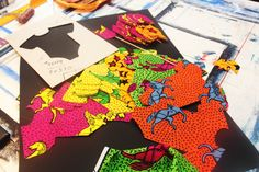 African print onesie decoration for baby shower