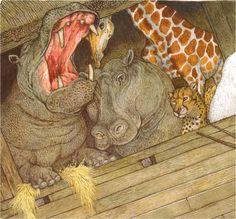 Jan Brett. On Noah's Ark