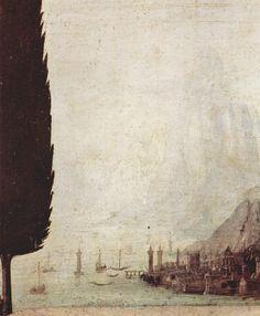 the background in Da Vinci's Annunciation