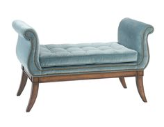 Pearson customized 187 Bench with tufted seat, shorter length and custom placement of decorative nails. Lovely!