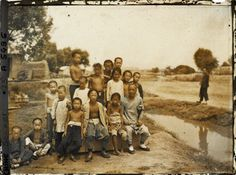 Chinese villagers near Beijing, late Qing Dynasty.