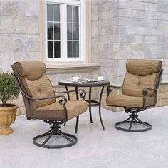 Better Homes and Gardens Mika Ridge 3-Piece Outdoor Bistro Set, Seats 2. Looks very comfy