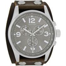 Oozoo horloge c6442-bruin-grijs €49,99