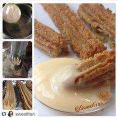 Churros de avena horneados? La receta es muy muy simple!. ✳️Ingredientes para 3-4 porciones Para la masa: -1 taza de agua -1 taza de harina avena (tambien funciona con harina de quinoa o harina integral) -1 cda de aceite de coco (o 1 cda de aceite que tengas) -pizca de sal y stevia, vainilla a gusto Para la leche condensada Fit -4 cdas de proteina en polvo sin sabor (puedes reemplazar por 4cdas de leche en polvo descremada) -2 cdas de agua -5 gotitas de esencia de leche condensada…