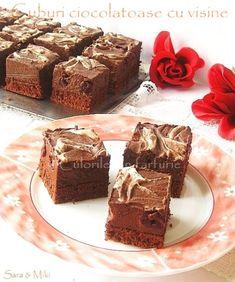 » Cuburi ciocolatoase cu visineCulorile din Farfurie Desert Recipes, Cheesecake, Muffin, Cooking Recipes, Breakfast, Desserts, Dessert, Morning Coffee, Tailgate Desserts