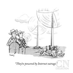 """They're powered by Internet outrage."" - New Yorker Cartoon Poster Print by Benjamin Schwartz at the Condé Nast Collection"