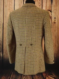 Superb mens harris tweed john rocha modern overcoat peacoat coat ...