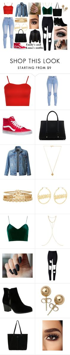Emily's and Luna's Outfits by theflashisbae21 on Polyvore featuring WearAll, LE3NO, WithChic, Vans, Skechers, La Perla, TOMS, Treasure & Bond, Bling Jewelry and Chan Luu