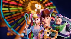 This HD wallpaper is about background, cartoon, poster, characters, Toy Story Original wallpaper dimensions is file size is Sheriff Woody, Little Bo Peep, Toy Story 3, Buzz Lightyear, Pixar, Caleb Johnson, 8k Wallpaper, Road Trip Adventure, Toy Story