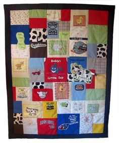 Quilts from favorite baby clothes.  Melissa, think your mom is up for it?