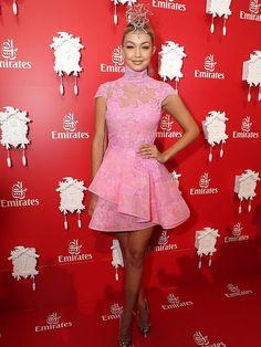 Gigi Hadid - Emirates Marquee - Birdcage Fashion - Melbourne Cup 2014