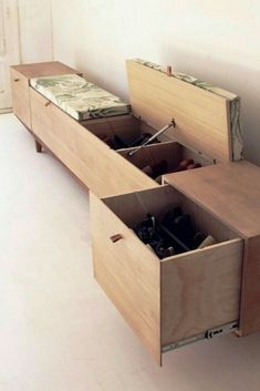 Smart shoe storing with 47 diy rack shoe ideas page 29 Cool Furniture, Furniture Design, Furniture Ideas, Diy Rack, Flur Design, Mudroom, Home Organization, Home And Living, Sweet Home