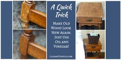 Awesome! You can use pantry items to revive your wood furniture. Works like a charm!
