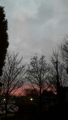 #grey #coral #evening sky