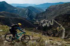 Location: Maritime Alps, France. Rider: Melissa Munro. Photo: Duncan Philpott. Photo courtesy of Juliana Bicycles