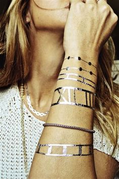 obsessed with these metallic temporary tattoos