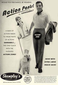 Action Pants! By Sansabelt.