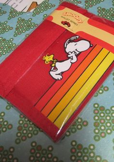Vintage 1980s Snoopy Wallet with WoodstockRed by unicornkids, $25.00