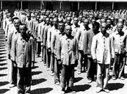 Presos durante la represion: estaban sometidos a condiciones de vida e higiene pesimas