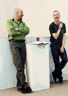 Bryan Cranston & Aaron Paul on the set of #BreakingBad #TV