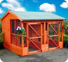 Large Two Dog House, Kennel+Run 8x8 Delvd & Installed in Pet Supplies, Dog Supplies, Dog Kennels | eBay