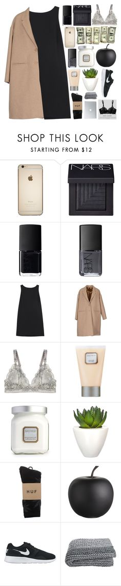 """merry xmas!"" by dont-go-to-sleep ❤ liked on Polyvore featuring NARS Cosmetics, RED Valentino, Neil Barrett, STELLA McCARTNEY, Laura Mercier, Pomax, HUF, CB2, NIKE and fashionbytia"