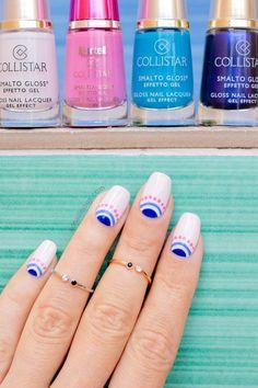 Pictures of nails decorated for summer - Summer Nail Art Diy Nails, Cute Nails, Pretty Nails, Gel Nail Art, Nail Polish, Nailart Gel, Magic Nails, Tribal Nails, Cute Nail Art Designs