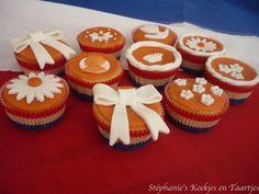 Stéphanie's Koekjes en Taartjes: Cupcakes voor Koninginnedag