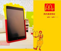 French Fries Silicone Case Cover for iPad mini, iPad 2/3/4/5, iPad air, ipad air 2, ipad mini 3