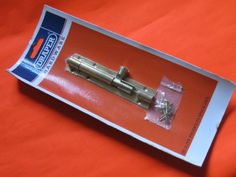 Draper Barrel bolt High quality brass sliding door bolt Supplied with countersunk flat head screws For indoor or outdoor use Length 100mm  See our range of bolts in Hardware category