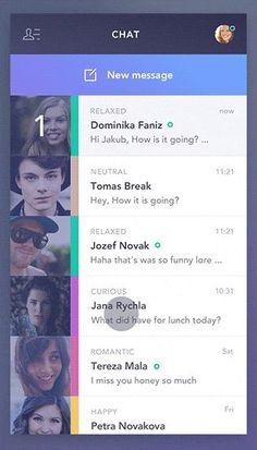 Side bar UI animation of a chat app design by Jakub Antalik