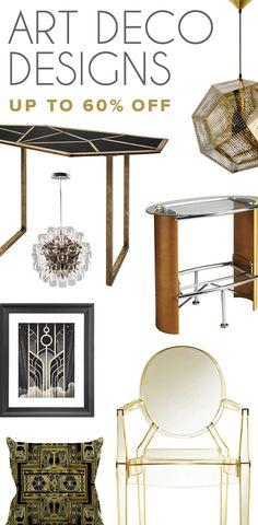 Art Deco Furniture & Décor   Up to 60% Off at dotandbo.com
